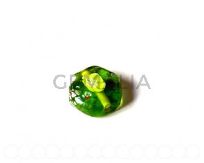 Cristal Milflores. Hexagono16x14mm. verde. Int.1mm Aprox.
