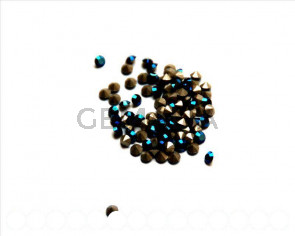 SWAROVSKI. Xilion Rose Chatons 3mm. Metallic Blue