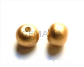 Ceramica. Bola 16mm. Dorado mate. Int.3,5-4mm