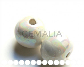 Ceramica. Bola 26mm. blanco. Int.4,5-5mm