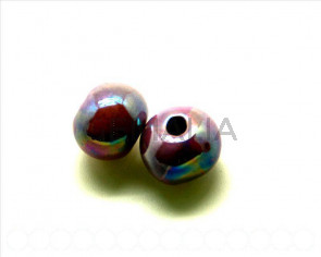 Ceramica. Bola 16mm. lila . Int.3,5-4mm aprox.