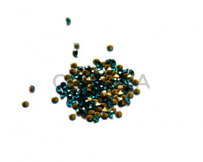 Cristal. Rhinestone Chaton. 2,9-3mm. Blue Zircon