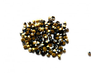 Cristal. Rhinestone Chaton. 4-4,1mm. Black Diamond