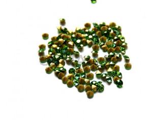 Cristal. Rhinestone Chaton. 4-4,1mm. Peridot