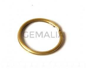 Cuentas Metalicas. Argolla Doble 35mm. Oro Viejo