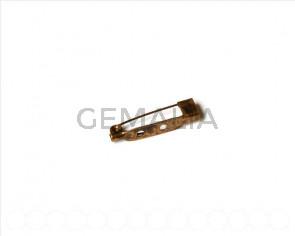 Accesorio broche 25mm. Oro viejo