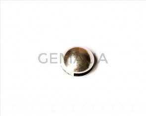 Entrepieza Moneda Zamak. 18mm. Plateado. Int.13x2mm