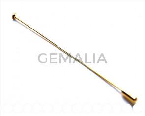 Cuentas metalicas. Accesorio broche 100x1,2mm. Dorado