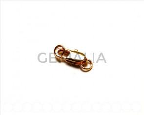 Cuentas metalicas. Mosqueton 14mm. Dorado