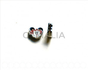 Cuentas Metalicas. Minnie 13x13x4mm. Int.8x1,5mm