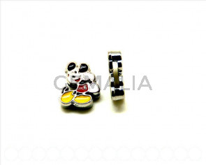 Cuentas Metalicas. Mickey 15x12x4mm. Int.8x2mm