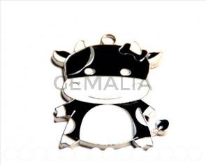 Cuentas Metalicas. Colgante Vaca 48x40x2mm. Int.8x2mm