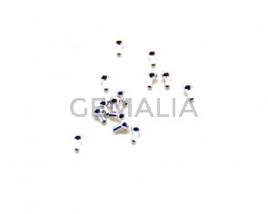 Cuentas metalicas. Terminal. 5x3mm. Plateado. Int.0,6mm