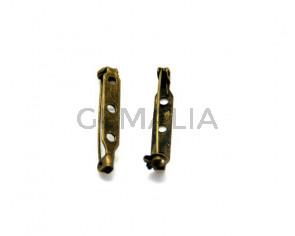 Cuentas metalicas. Accesorio broche. 32mm- Oro viejo.