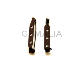 Accesorio broche. 32mm. Marron oscuro.