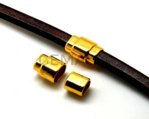 Cierre Zamak Imán. 22,5x15,5mm. Dorado. Int.10x7mm