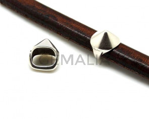 Zamak. Tachuela.Regaliz.13x14mm.Plateado.Int.10x7mm