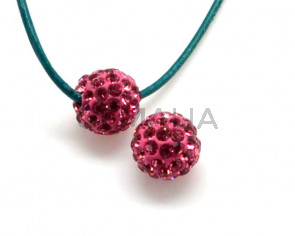 Rhinestone.Bola.10mm.Rose.Int.2mm.aprox.