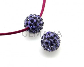 Rhinestone.Bola.10mm.Tanzanite.Int.2mm.aprox.