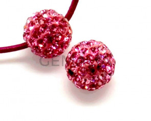 Rhinestone.Bola.10mm.Rose.Int.2mm aprox.