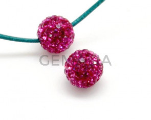 Rhinestone.Bola.10mm.Fucsia.Int.2mm aprox.