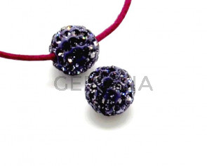 Rhinestone.Bola.10mm.Tanzanite.Int.2mm aprox.