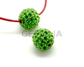 Rhinestone.Bola.12mm.Peridot.Int.3mm aprox.