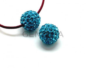 Rhinestone.Bola.12mm.Aquamarine.Int.3mm aprox.