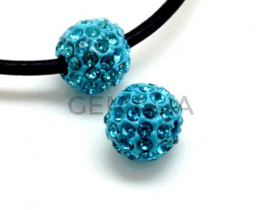 Rhinestone.Bola.10mm.Aquamarine.Int.2,5mm aprox.