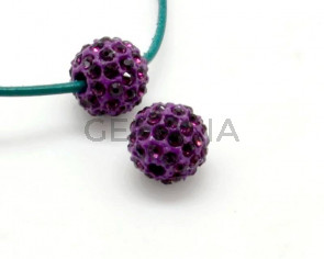 Rhinestone.Bola.10mm.Amatista.Int.2,5mm aprox.