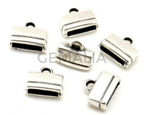 Zamak. Terminal. 13x10,5x5mm. Plateado. Int.10x2,5mm
