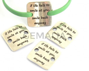 Zamak. Conector.Chapa.27x29mm.If life fails to smile at you.Int.5mm