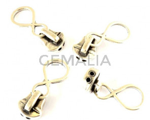 Zamak. Cremallera. 42x15mm. Plateado. Int.2mm