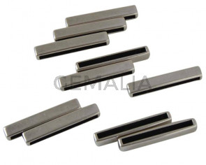 Barra Zamak entrepieza. 33x5mm. Plateado. Int.30x2,5mm