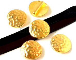 Entrepieza Moneda Zamak. 26,5mm. Dorado. Int.20x2,5mm