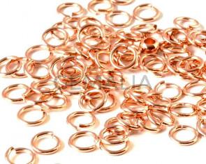 Argolla latón. 6x1,2mm. Oro rosa.