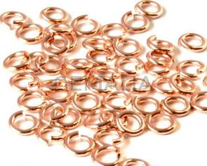 Argolla latón. 8x1,2mm. Oro rosa.
