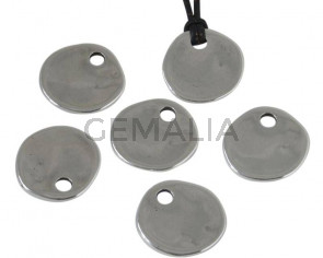 Zamak. Colgante. Moneda. 22mm. Plateado. Int.4mm
