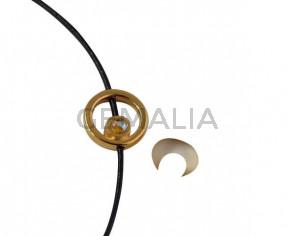Aro de SWAROVSKI y Zamak 12,2x12,3mm. Dorado-Citrine Shimmer. Int.1,5mm