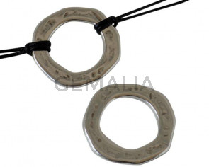 Zamak. Arandela. Irregular. 30mm. Plateado. Int.19mm