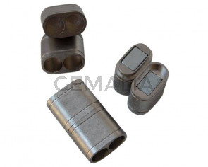 Acero inoxidable 304. Cierre iman. 19x11x6mm. Plateado mate. Int.4,7mm