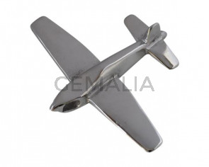Acero inoxidable 316L. Colgante avion. 48x41x9mm. Plateado. Int.3,5x4,5mm