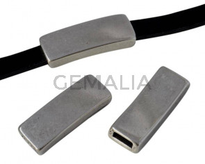 Zamak. Tubo. 23x8x4mm. Plateado. Int.5x2mm