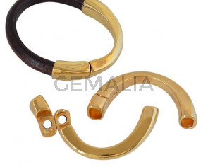 Media pulsera magnetica de Zamak. 62x34mm. Dorado. Int.10x7mm