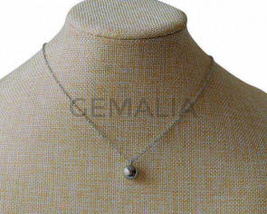 Collar de Acero inoxidable 316L 10mm. Plateado. 15,7 Inch. Ajustable.