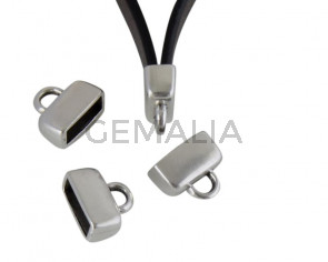 Terminal de Zamak 13x11mm. Plateado. Int.10x4mm