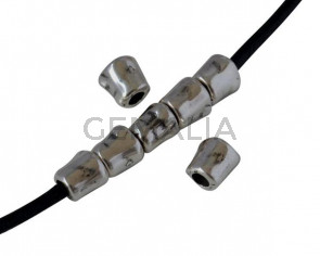 Tubo de Zamak 7x6mm. Plateado. Int.3mm