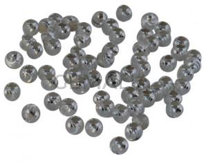 Plata 925. Bola tallada. 2,8mm. Int.1mm