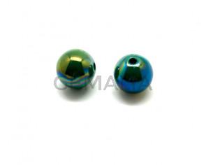 Acrilico.Bola.16mm.Verde irisado.Int.2mm