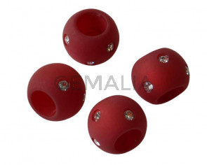 Resina/SWAROVSKI.Rondel.12x9mm.Granate-cristal.Int.6mm. Calidad Superior